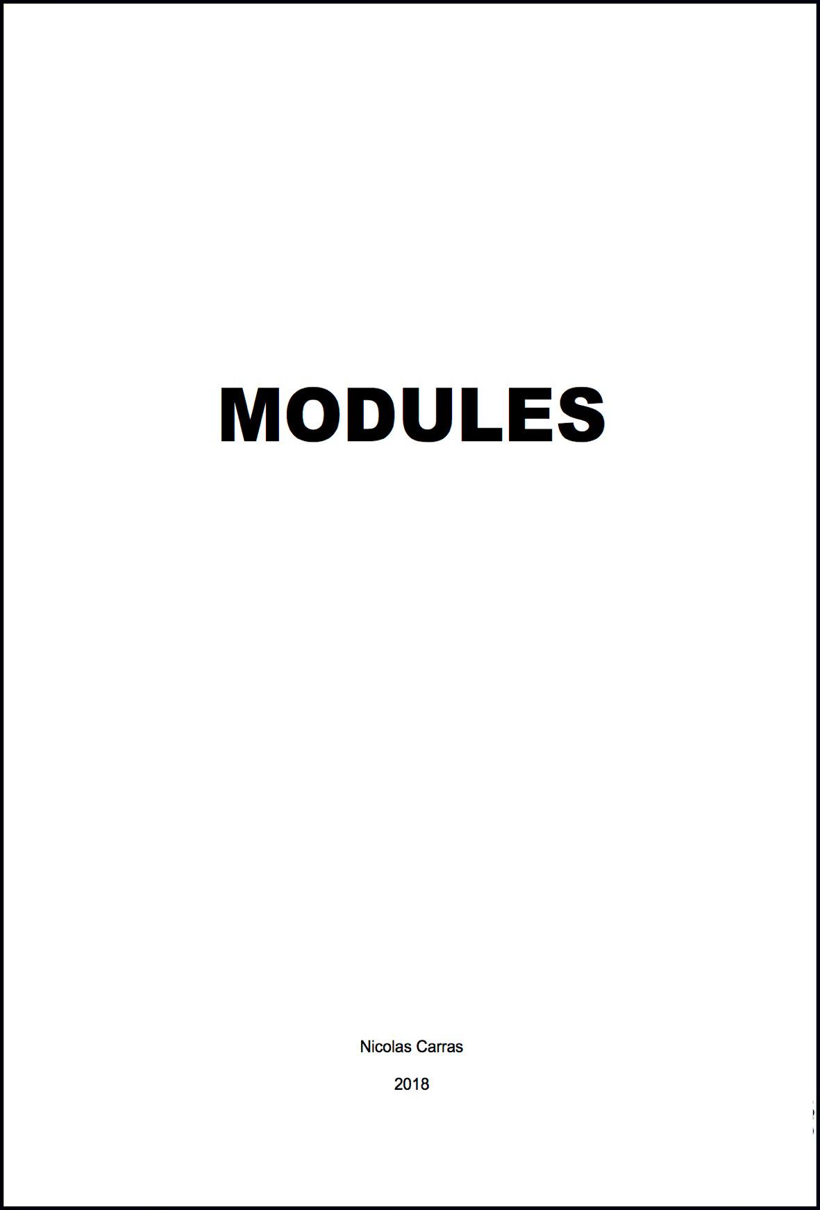 © Nicolas Carras - Modules