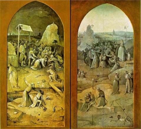 Les tentations de Saint Antoine - panneaux fermés - Jérôme Bosch